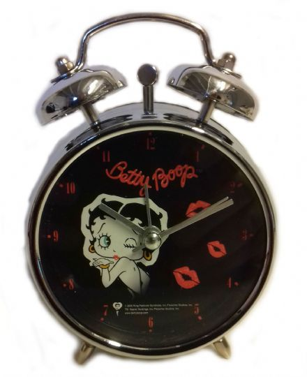 Betty Boop Alarm Clock, Black Face